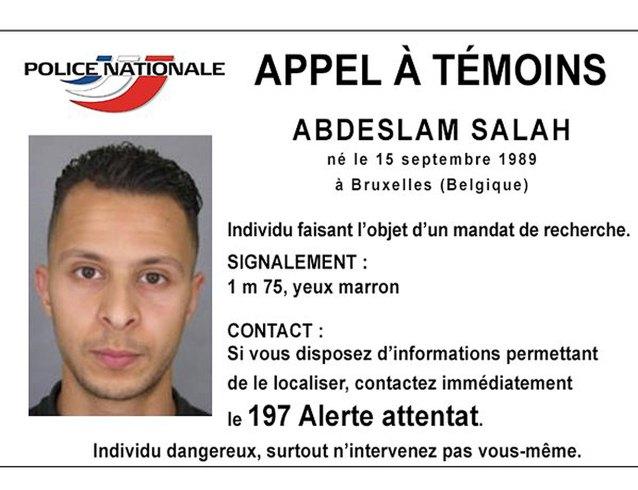 Foto entregada por la Policía Nacional Francesa, que muestra a Salah Abdeslam, uno de los sospechosos por los ataques en París, 15 de noviembre de 2015. La policía belga arrestó a una persona en el distrito Molenbeek de Bruselas, pero no es el sospechoso francés buscado por los atentados en París Salah Abdeslam, dijo el lunes la radioemisora pública RTBF. REUTERS/Police Nationale/Handout via Reuters