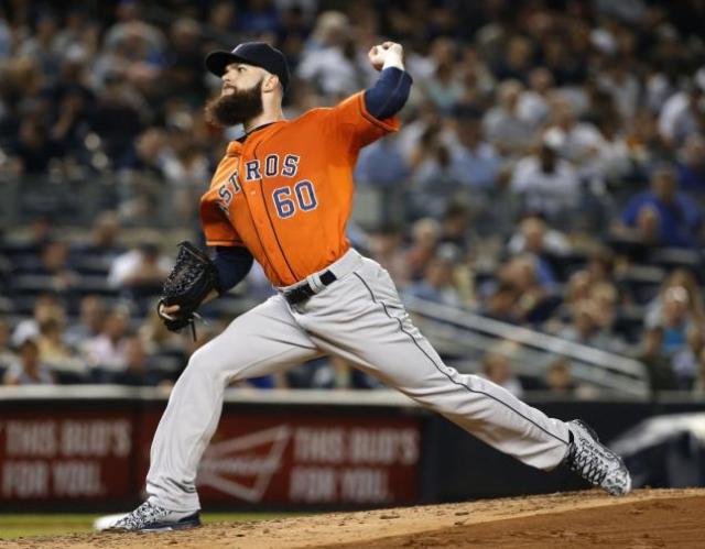 El zurdo de los Astros de Houston, Dallas Keuchel. AP