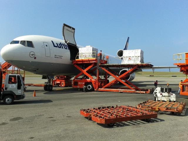 El MD11 de Lufhansa Cargo en Maiquetía