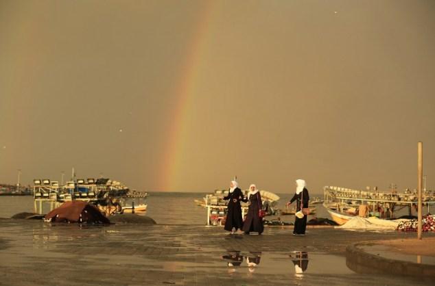 PALESTINIAN-GAZA-DAILY LIFE-RAINBOW