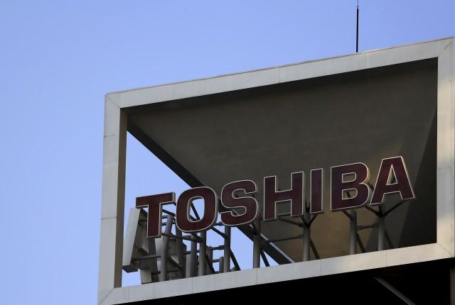 El logo de Toshiba en su sede en Tokio. REUTERS/Yuya Shino/Files