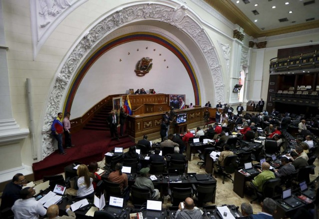 A general view of the Venezuelan National Assembly during a session in Caracas December 10, 2015. REUTERS/Carlos Garcia Rawlins