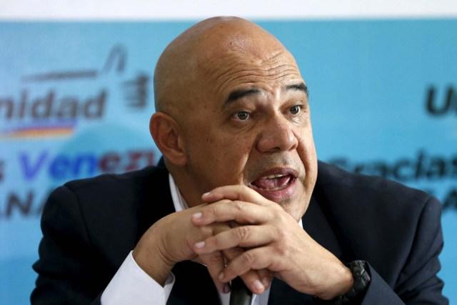 Jesús Chuo Torrealba, secretario general de la Mesa de la Unidad Democrática   (REUTERS/Carlos Garcia Rawlins)