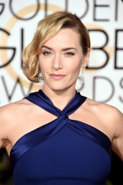 BEVERLY HILLS, CA - JANUARY 10: Actress Kate Winslet attends the 73rd Annual Golden Globe Awards held at the Beverly Hilton Hotel on January 10, 2016 in Beverly Hills, California.   Jason Merritt/Getty Images/AFP
