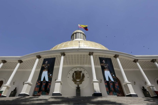 A general view of the building housing the National Assembly in Caracas, Venezuela January 12, 2016. REUTERS/Marco Bello