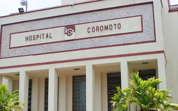Maracaibo,Venezuela,29/08/2012. Fachada principal del hospital Coromoto.