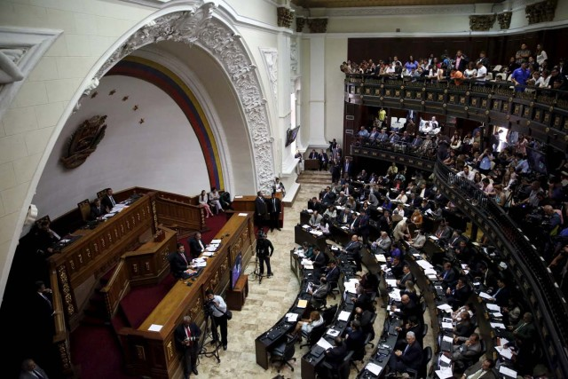 A general view of Venezuela's National Assembly during a session in Caracas January 26, 2016. REUTERS/Carlos Garcia Rawlins