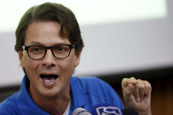 Lorenzo Mendoza, president of Venezuela's largest private food production company Empresas Polar, speaks during a news conference in Caracas February 2, 2016.