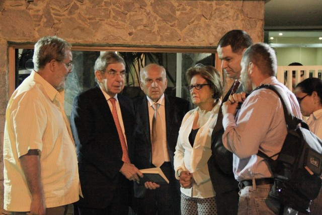Oscar Arias de visita en Villa Magna (1)