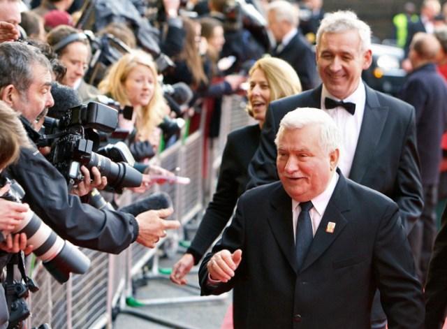 Walessa en la  Fiesta de cumpleaños de Mikhail Gorbachev en Londres, en 2011