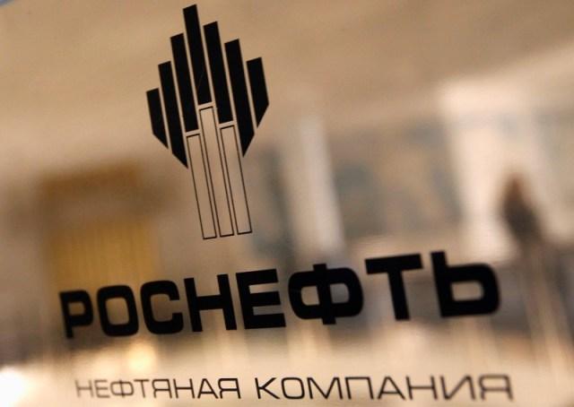 El logo de la petrolera estatal rusa Rosneft REUTERS/Alexander Demianchuk