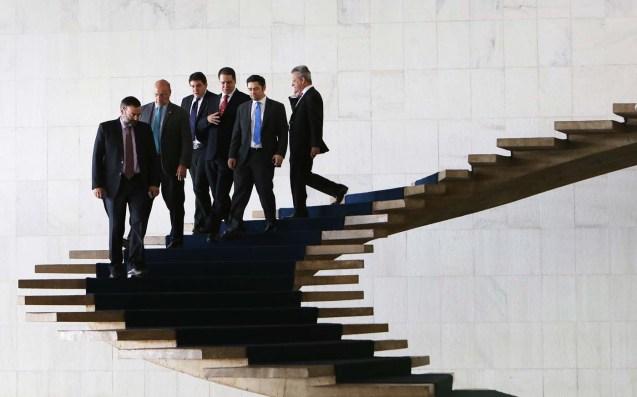 Los diputados estuvieron en Brasil donde se recibió apoyo del Senado (Foto Reuters)