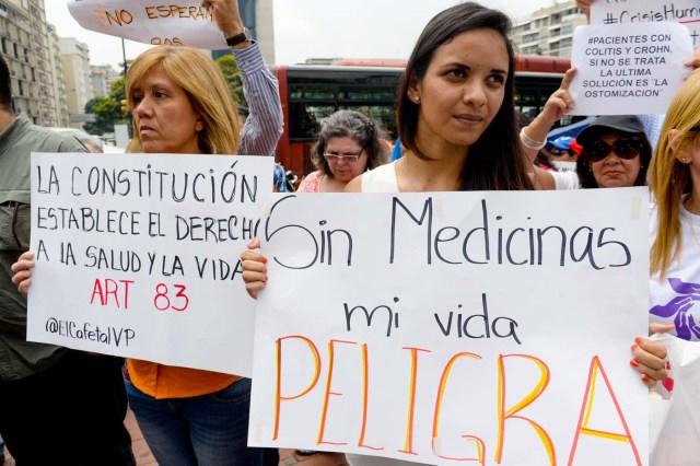 protestas medicinas salud escasez