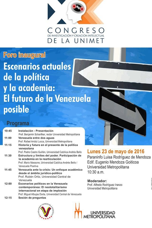 Vzla+UnimetForo23MAY2016