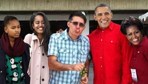 ¡IMPERIALISTA! Vacílate ahora a Haiman comiendo mamón con los Obama (FOTOMONTAJE)