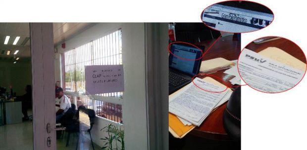 """La """"sala situacional"""" consigna planillas (emitidas por el PSUV) para conformar los CLAP, funciona en la Dirección de Obras de la Alcaldía de Caroní"""