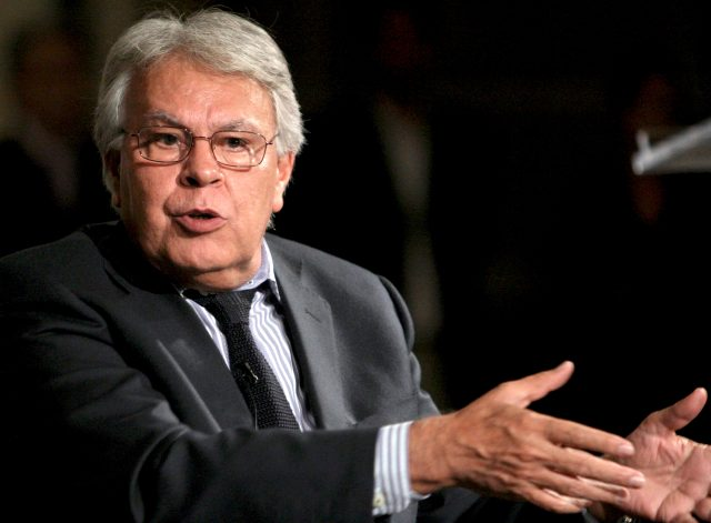 El expresidente de España, Felipe González. Foto: Archivo