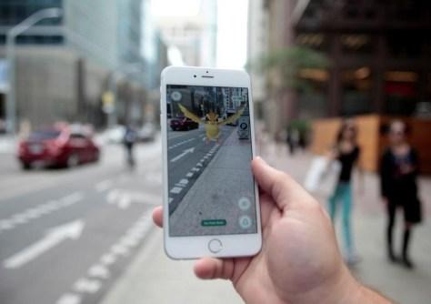 En la imagen, un Pokemon en un móvil con la aplicación Pokemon Go en Toronto. Foto: REUTERS/Chris Helgren