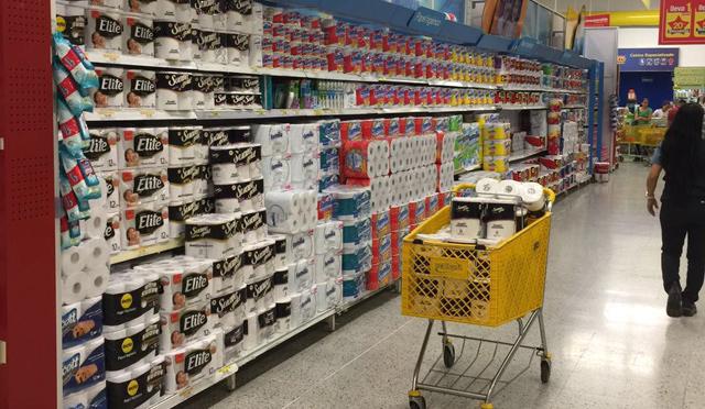 Papel higiénico de todos los precios y marcas, abundan en los estantes