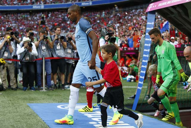 Football Soccer - Bayern Munich v Manchester City - Pre Season Friendly - Allianz Arena, Munich, Germany - 20/7/16 Manchester City's Fernandinho before the match Action Images via Reuters / Michaela Rehle Livepic