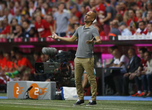Football Soccer - Bayern Munich v Manchester City - Pre Season Friendly - Allianz Arena, Munich, Germany - 20/7/16 Manchester City manager Pep Guardiola Action Images via Reuters / Michaela Rehle Livepic