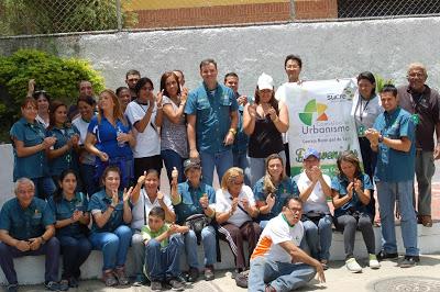 Juan con todo equipo de Urbanismo Sucre. Palo Verde y Lomas del Avila