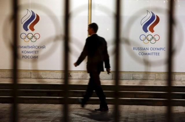 Fachada de la sede del Comité Olímpico de Rusia. Foto: Reuters