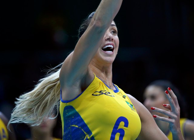 Volleyball - Women's Preliminary - Pool A Brazil v Argentina