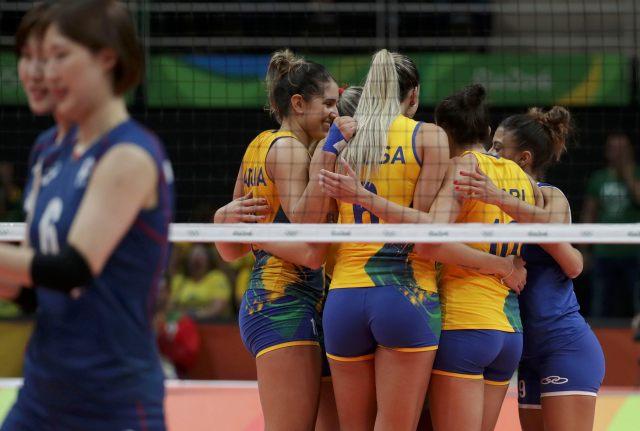 Volleyball - Women's Preliminary - Pool A Brazil v South Korea