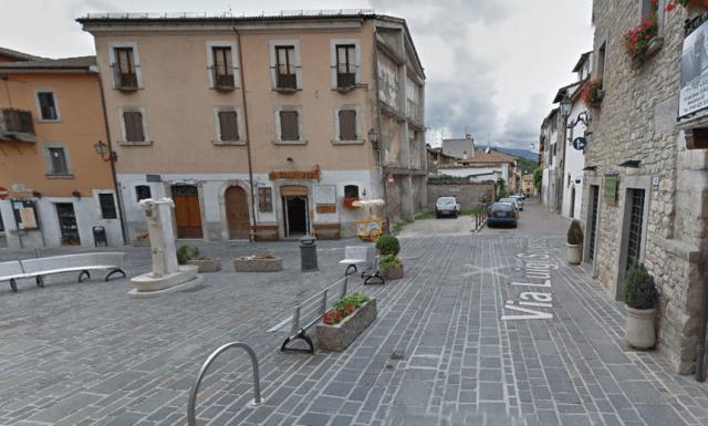 Plaza central de Amatrice