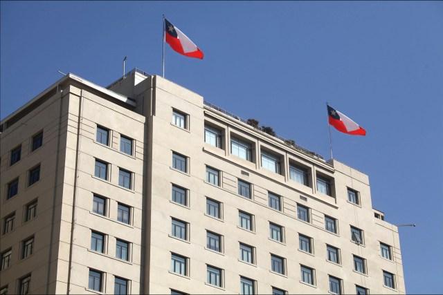Fachada del Ministerio de Relaciones Exteriores chileno