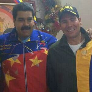 Winston Vallenilla y Nicolás Maduro