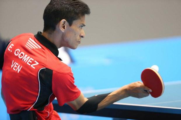 Edson Gómez competirá en el tenis de mesa. Foto: Archivo