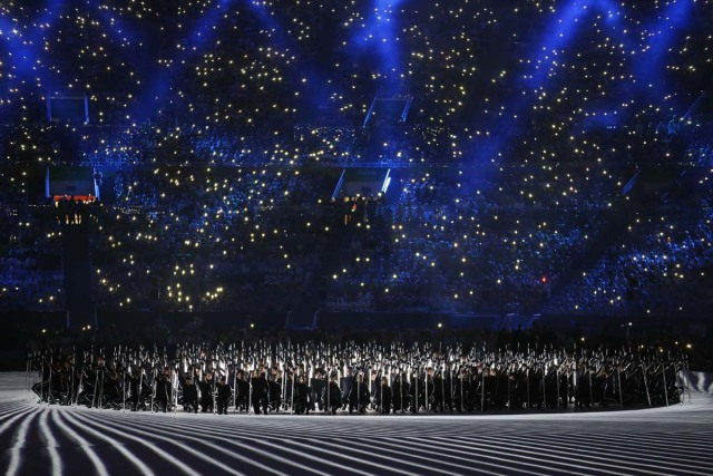 2016 Rio Paralympics - Opening ceremony - Maracana - Rio de Janeiro, Brazil - 07/09/2016. Performers take part in the opening ceremony. REUTERS/Jason O'Brien FOR EDITORIAL USE ONLY. NOT FOR SALE FOR MARKETING OR ADVERTISING CAMPAIGNS.