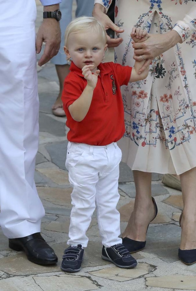 Prince Jacques, the heir apparent to the Monegasque throne gestures during the traditional Monaco's picnic in Monaco, September 10, 2016. REUTERS/Valery Hache/Pool