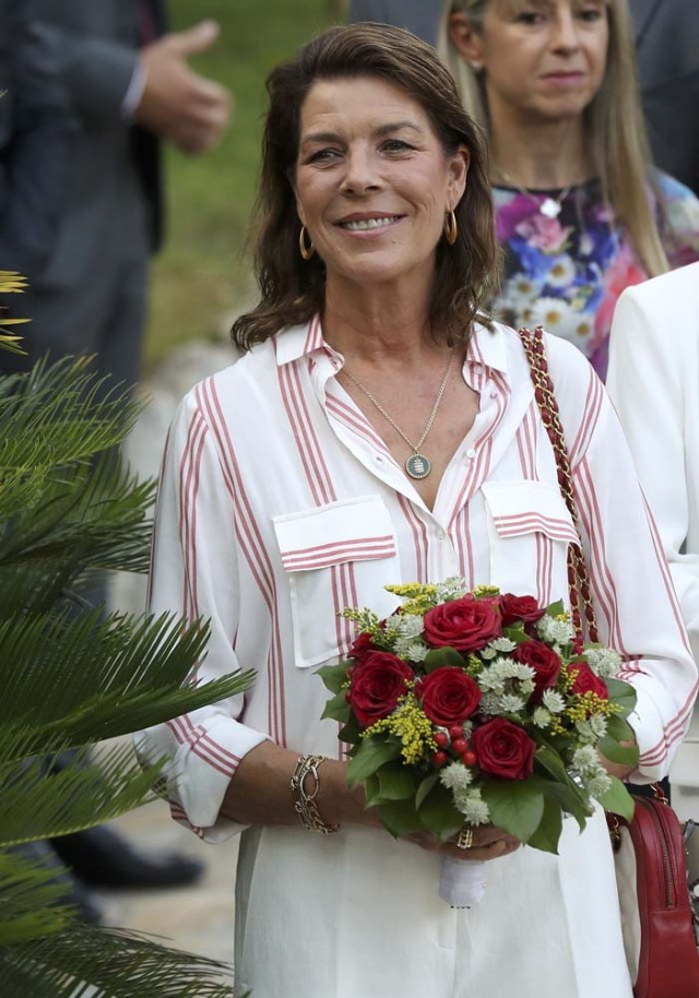 Princess Caroline of Hanover attends a dance show during the traditional Monaco's picnic in Monaco, September 10, 2016. REUTERS/Valery Hache/Pool