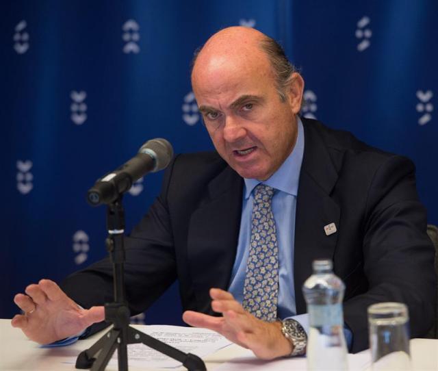El ministro de Economía español Luis de Guindos. Foto: EFE