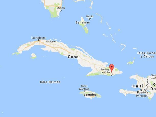 El sismo se hizo notar en Santiago de Cuba y Guantánamo. Foto: Google Maps