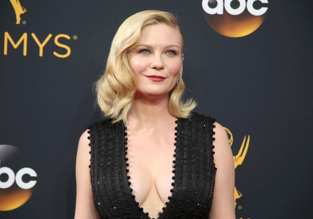 "Actress Kirsten Dunst from the FX Network's series ""Fargo"" arrives at the 68th Primetime Emmy Awards in Los Angeles, California"