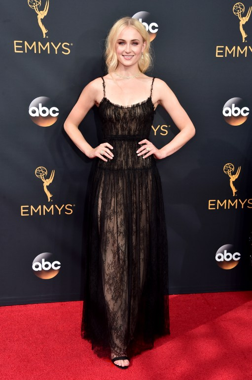 LOS ANGELES, CA - SEPTEMBER 18: Actress Sophie Turner attends the 68th Annual Primetime Emmy Awards at Microsoft Theater on September 18, 2016 in Los Angeles, California.   Alberto E. Rodriguez/Getty Images/AFP