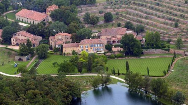 Una de las tantas mansiones que Brangelina tenía a su disposición. Foto: Infobae