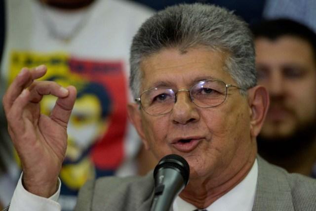 Henry Ramos Allup, diputado de la Asamblea Nacional / Foto AFP / Federico PARRA