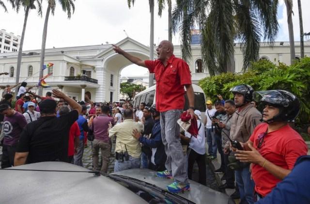 Foto: Jorge Rodríguez desde la Asamblea Nacional / AFP