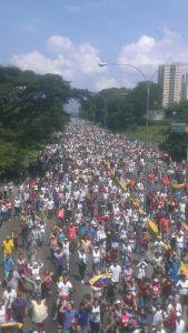 FOTOS: Valencia desbordó la Autopista del Este en la Toma de Venezuela del #26Oct