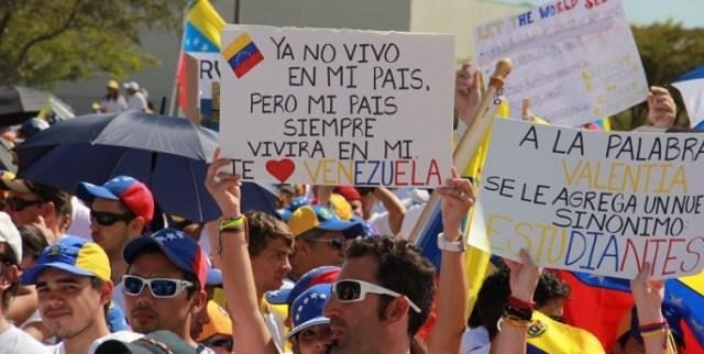 Foto: Miles de venezolanos en el exterior se suman a la Toma de Venezuela / Nota de prensa