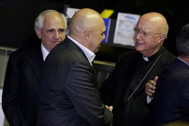 Jesús Chuo Torrealba y el enviado del Vaticano, Monseñor Celli (Foto archivo)