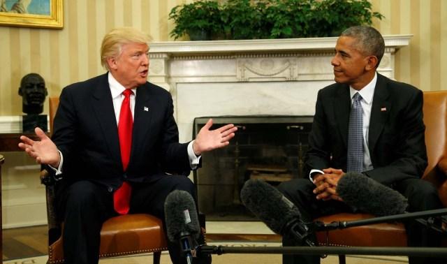 trump y obama casa blanca