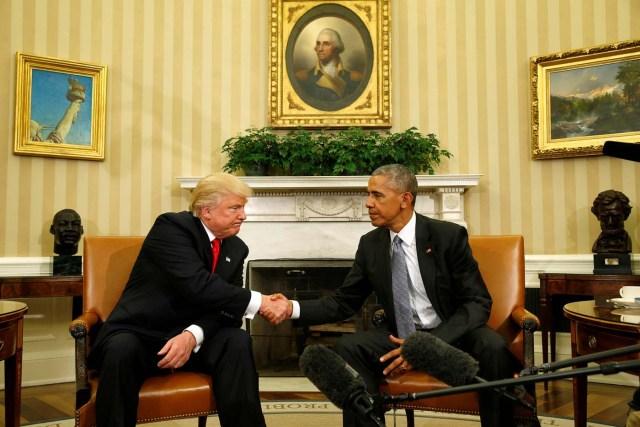 2trump y obama casa blanca