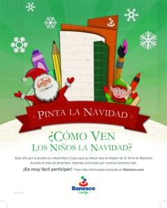 Banesco invita a los niños a pintar la Navidad