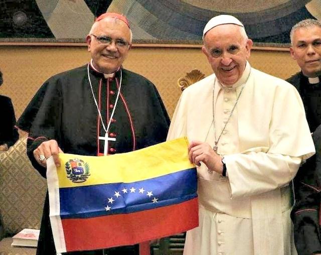 1Cardenal Baltazar Porras y papa francisco venezuela